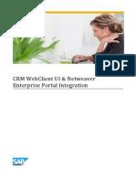 CRM WebClient UI %26 Netweaver Enterprise Portal Integration