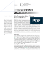 Safe Prevention of the Primary Cesarean Delivery
