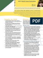 World Cancer Declaration