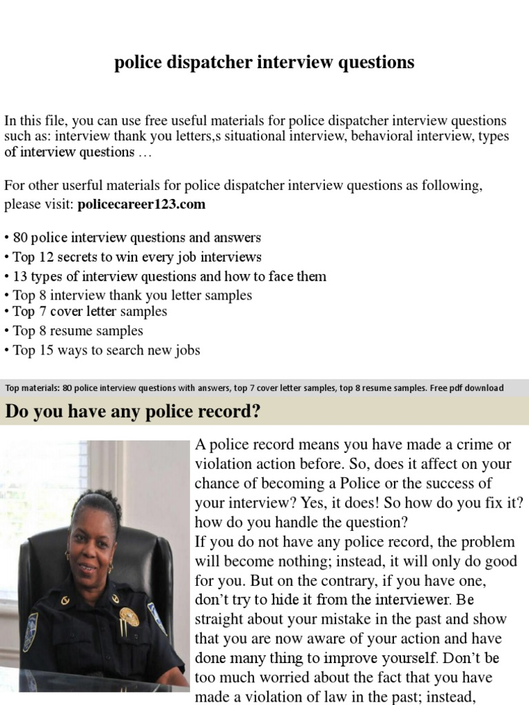 Police dispatcher interview questions job interview interview madrichimfo Images