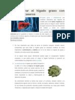 Cómo Curar El Hígado Graso Con Remedios Caseros
