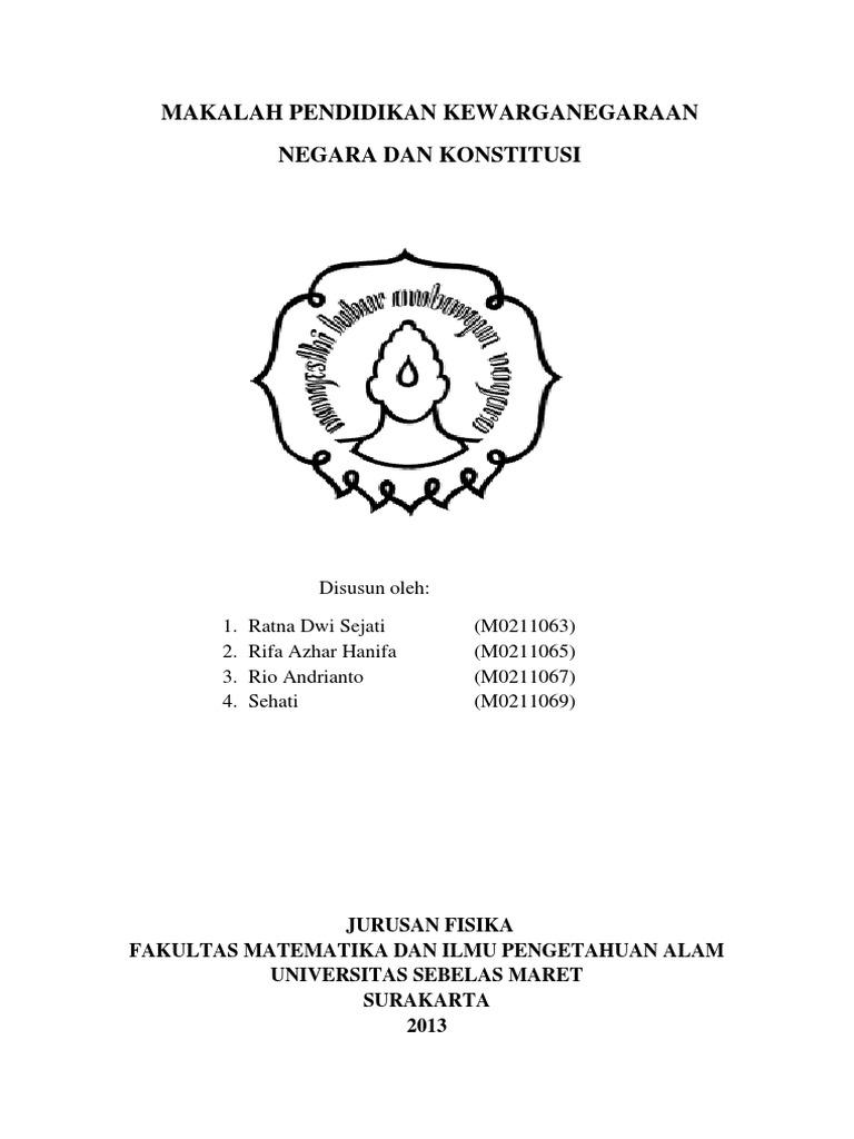 Makalah Kwn Negara Dan Konstitusi