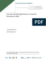Carta de Perón a La Juventud en 1965