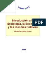 LIBRO - Introduccion a La Sociologia, La Economia y Las Ciencias Politicas