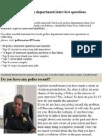 Leeds Police Department Interview Questions