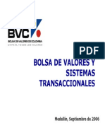 Bolsa de Valores Ys Sistemas Transaccionales