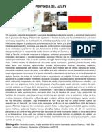 Historia Gastronómica de las Provincias Del Azuay y Loja