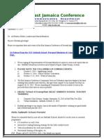 Communication -Advisory for Sep 13-2014