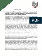 Carta de la OrganizaciónFiestasPatrias a Sin Censura