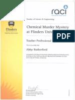 chemical murder mystery certificate