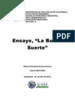 Ensayo_la Buena Suerte