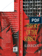 Badiou Alain Theory of the Subject