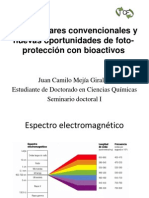 Filtros Solares Convencionales y Fotoproteccion Con Bioactivos
