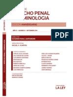 Indice Revista de Derecho Penal y Criminologia. Septiembre 2014