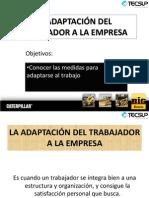Adaptacion Del Trabajador a La Empresa.