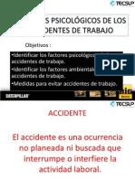 Factores Psicologicos de Accidentes de Trtabajo