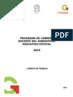 Carrera Docentecarpeta de Trabajo--2014