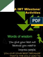 4. IMT milestones 2.22-24. 2012