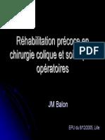 Rehabilitation Precoce Colique