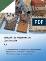 Seleccion de Materiales de Construccion