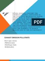 Diesel Emissions Pollutant