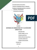 Sistemas de Combustible EFI y La Inyección Directa GDI GRUPO 02