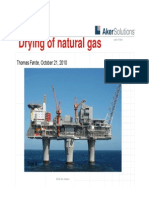 Aker Solutions Presentation - Drying of Natural Gas