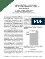 Análisis y Diseño de Monopolos Acoplados Para Dispositivos Móviles Multibanda