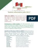 Boletin Informativo Julio 2011