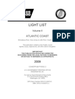 V2 -  LIGHT LIST Volume II  ATLANTIC COAST Shrewsbury River, New Jersey to Little River, South Carolina