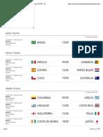 Los partidos de la Copa Mundial de la FIFA Brasil 2014™ - FIFA.com