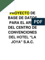 Proyecto de Base de Datos Hotel La Joya
