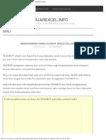 Menggunakan Fungsi VLOOKUP Pada Excel 2007 – BelajarExcel.info