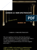 Carbon 13 Spectroscopy