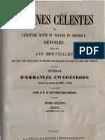 Em Swedenborg ARCANES CELESTES Tome Second Genese VIII XII Numeros 824 1520 LeBoysDesGuays 1843 1887