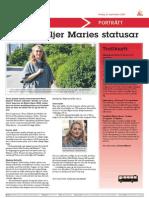 Många Följer Maries Statusar