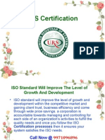 Urs India an ISO Certification Provider Company Who Give the Information About All Type of ISO Certification Like – ISO 9001, IsO 14001, IsO 27001, IsOTS 16949 and OHSAS 18001 and Many More