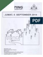 Kliping Berita Perumahan Rakyat, 5 September 2014