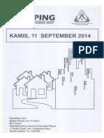 Kliping Berita Perumahan Rakyat, 11 September 2014