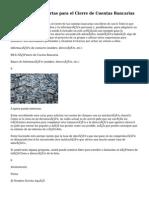 Ejemplos de las Cartas para el Cierre de Cuentas Bancarias