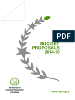 Proposal Budget 201415