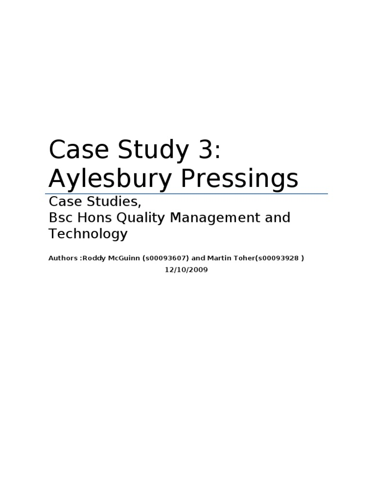 case study aylesbury pressings