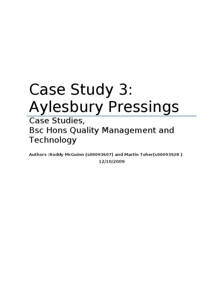 case study aylesbury pressings