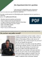 Philadelphia Police Department Interview Questions