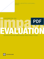 Handbook on Impact Evaluation