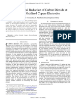 Electrochemical Reduction of Carbon Dioxide at Surface Oxidized Copper Electrodes