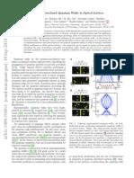 Strongly Correlated Quantum Walks in Optical Lattices