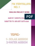 Harshita's English Project Work