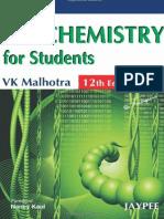 VK Malhotra - Biochemistry for Students, 12th Edition