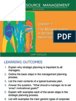 Dessler_HRM12e_Ch2-The Manager's Role in Strategic HRM